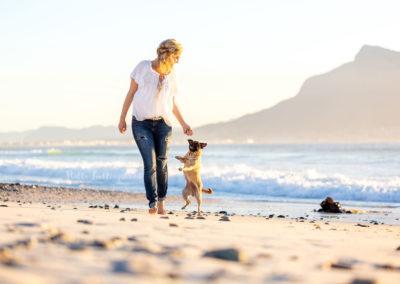 Outdoor Shooting - Shooting mit Hund draußen | Lieblingsabenteuer am Strand Meer von Kapstadt