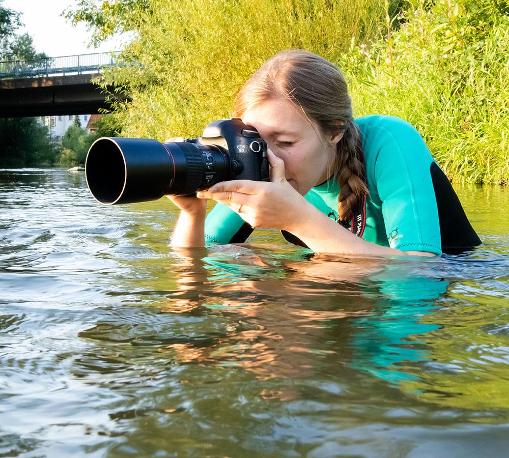 Fotografen-Portrait | Hundefotos im Wasser