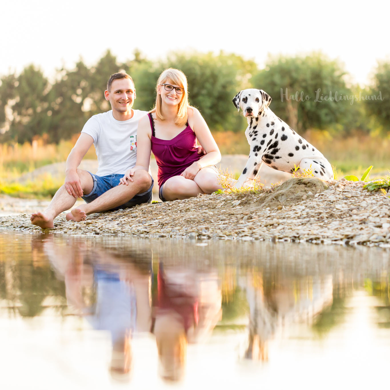 Outdoor Shooting - Shooting mit Hund draußen   Rudelshooting Shooting am Bach